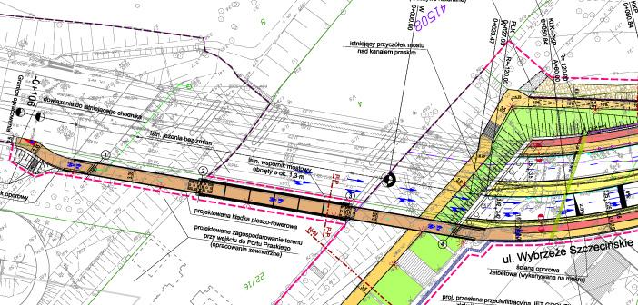 Projekt kładki pieszo-rowerowej nad Portem Praskim